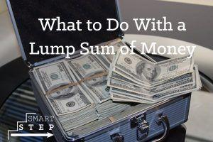 lump sum of money